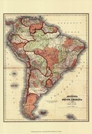 Small Antique Map of S. America (P)
