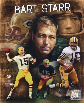 Framed Bart Starr 2010 Portrait Plus Print