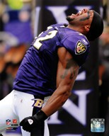 Ray Lewis 2010 Action  Fine Art Print
