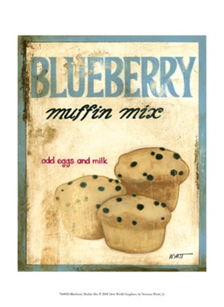 Framed Blueberry Muffin Mix Print
