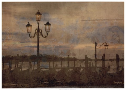 Framed Dawn & the Gondolas I Print