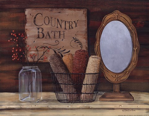 Framed Country Bath Print