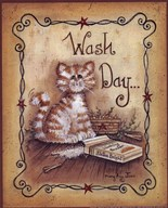 Wash Day - cat Art