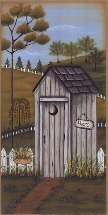 Her Outhouse Fine Art Print By Lisa Kennedy At