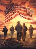 Bless America's Heroes  Fine Art Print