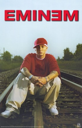 Eminem On Train Tracks Wall Poster By Unknown At