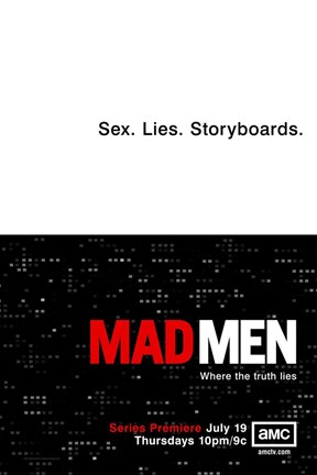 Framed Mad Men - Sex. Lives. Storyboards. Print