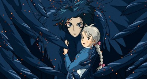 Framed Howl's Moving Castle Howl Hair Scene Print