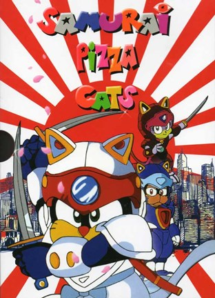 Framed Samurai Pizza Cats Print