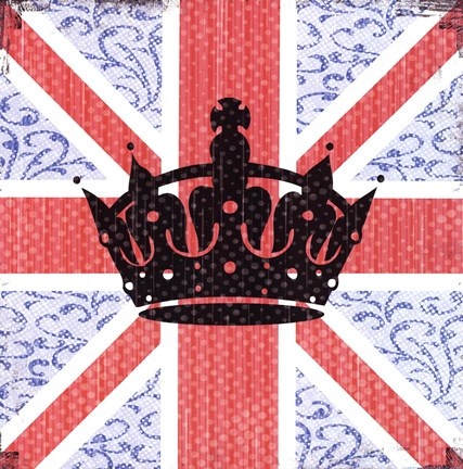 Framed Union Jack Crown Print