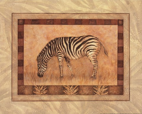 Framed Zebra - mini Print