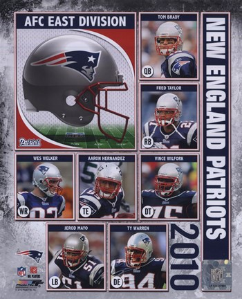Framed 2010 New England Patriots Team Composite Print