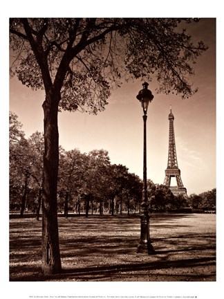 Framed Afternoon Stroll - Paris I Print