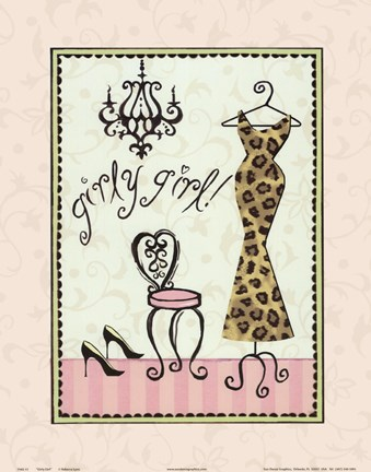 Framed Girly Girl Print