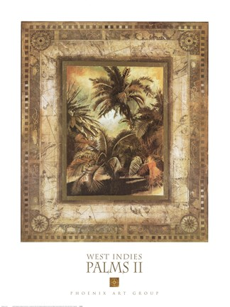 Framed West Indies Palms II Print