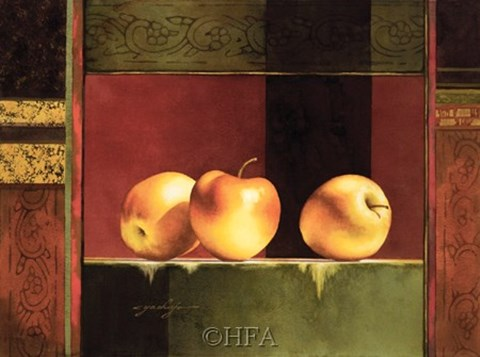 Framed Apples, Deco II Print