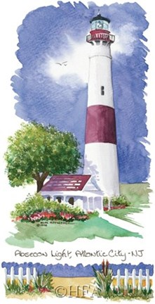 Framed Absecon Light Lighthouse Print