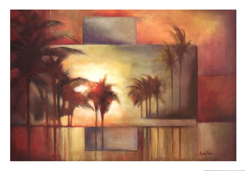 Framed Tropical Realm I Print