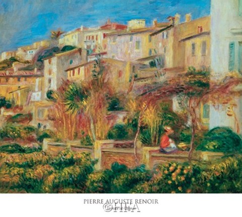 Framed Terrace at Cagnes Print