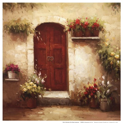 Framed Rustic Doorway III Print