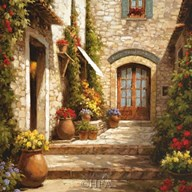 Sunlit Courtyard Art