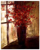 Vase of Red Flowers  Fine Art Print