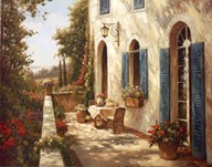 Sunny Terrace II  Fine Art Print