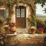 Flowered Doorway  Fine Art Print