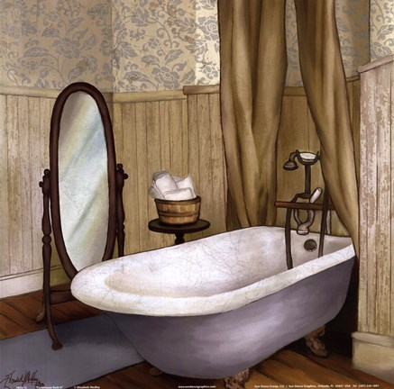 Framed Farmhouse Bath II Print