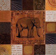 African Collage I Art