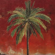 La Palma on Red I Art