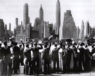 Sailors in NY  Fine Art Print