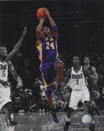 Framed Kobe Bryant 2010-11 Spotlight Action Print