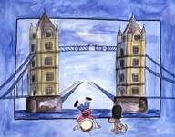Boy in London  Fine Art Print
