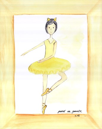Framed Yellow Ballerina Print