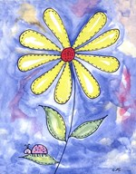 Yellow Daisy Art