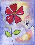Red Flower  Fine Art Print