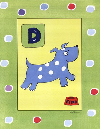 Framed D is for Dog Print
