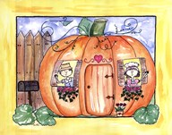 Mr and Mrs Pumpkin Eater  Fine Art Print
