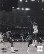 Michael Jordan University of North Carolina Game winning basket in the 1982 NCAA Finals against Georgetown Vertical Action  Fine Art Print