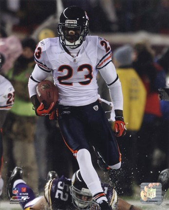 Framed Devin Hester sets an NFL Record with his 14th Career Return for a Touchdown Print