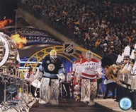 Semyon Varlamov & Marc-Andre Fleury 2011 NHL Winter Classic Action Art