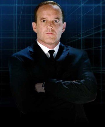Framed Iron Man 2 Agent Phil Coulson Print