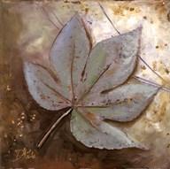 Turquoise Leaf II  Fine Art Print