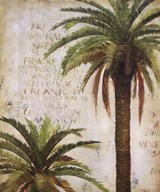 Palms and Scrolls I  Fine Art Print