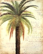 Palms and Scrolls II  Fine Art Print