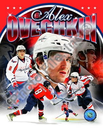 Framed Alex Ovechkin 2011 Portrait Plus Print