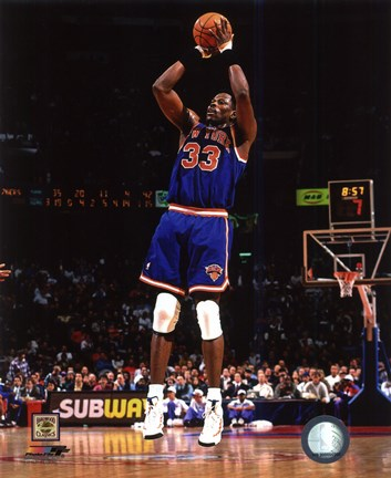 Framed Patrick Ewing 1996 Action Print