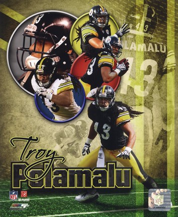 Framed Troy Polamalu 2011 Portrait Plus Print