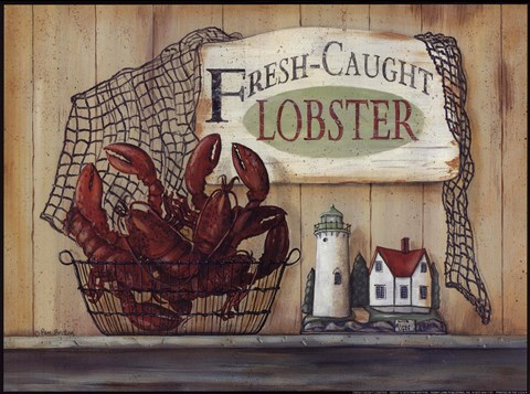 Framed Fresh Caught Lobster Print